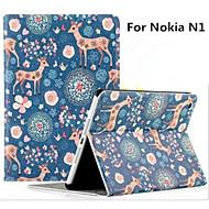 ノキアN1プリント動物用スタンド/フルボディケースとノキアN1タブレットケースケース7.9は「鹿のニホンジカ