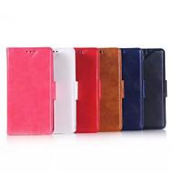 お買い得  携帯電話ケース-ケース 用途 ノキアLumia 640 Nokia Nokiakケース カードホルダー ウォレット スタンド付き フルボディーケース 純色 ハード PUレザー のために Nokia Lumia 640 XL