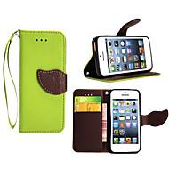 billige -Etui Til Apple iPhone X iPhone 8 Plus Etui iPhone 5 Kortholder Lommebok med stativ Flipp Heldekkende etui Helfarge Hard PU Leather til