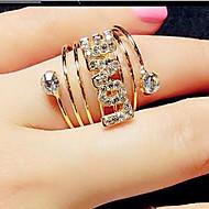 ステートメントリング キュービックジルコニア 模造ダイヤモンド 合金 スター ファッション ジュエリー パーティー 1個