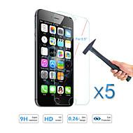 """abordables Accesorios para iPhone-5pcs venta caliente protector de pantalla de la película del protector templado de vidrio para 6s iPhone de Apple más / 6 más 5,5 """""""