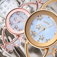 Недорогие Женские часы-Жен. Нарядные часы Модные часы Японский Кварцевый Повседневные часы сплав Группа Цветы Elegant Кольцеобразный Серебристый металл