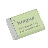 Kingma nb-13l remplacement 3.6v 1250mAh batterie li-ion pour Canon Powershot G7 x - gris vert +