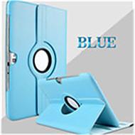 billige Etuier / covers til Samsung Tab-modellerne-Etui Til Samsung Galaxy Samsung Galaxy etui Med stativ Flip 360° Rotation Fuldt etui Helfarve PU Læder for Tab 2 10.1
