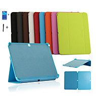 Business Case Stand Tablet Cover Case For Samsung Galaxy Tab 10.1 4 T530 T531 Screen Film +Stylus + fishbone