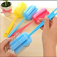 limpieza del hogar Cepillo herramienta Esponja para la cocina taza de café botella copa vaso de té de color al azar