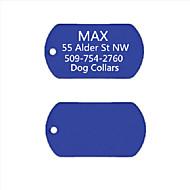 personalizado anodizado regalo etiqueta con su nombre Identificación del perro de aluminio para mascotas (colores surtidos)