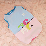 Hunde T-shirt Blau / Rosa Winter Karton