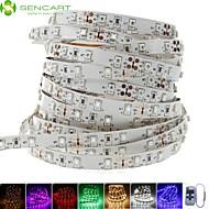 billiga -SENCART 5m Flexibla LED-ljusslingor 300 lysdioder 3528 SMD Varmvit / Vit / Röd Klippbar / Kopplingsbar / Lämplig för fordon 12 V 1st / Självhäftande