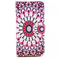 Для Кейс для  Samsung Galaxy Бумажник для карт / со стендом / Флип / С узором / Магнитный Кейс для Чехол Кейс для Цветы Искусственная кожа