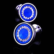 abordables Gemelos-Negro / Azul / 4 Gemelos Cobre Hombre Joyería de disfraz Para