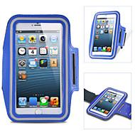 お買い得  携帯電話ケース-ケース 用途 iPhone 6s Plus iPhone 6 Plus iPhone 6s iPhone 6 ユニバーサル ウィンドウ付き 腕章 アームバンド 純色 ソフト 繊維 のために