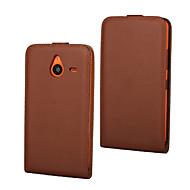 Mert Nokia tok Flip Case Teljes védelem Case Egyszínű Kemény Műbőr Nokia Nokia Lumia 640 / Nokia Lumia 640 XL
