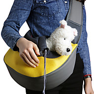 cheap Household & Pets Accessories-Cat Dog Carrier & Travel Backpack Shoulder Bag Pet Baskets Solid Portable Breathable Yellow Rose Green Blue Pink For Pets