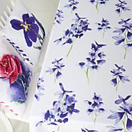 akvarelli kukka painettu pöytäliina