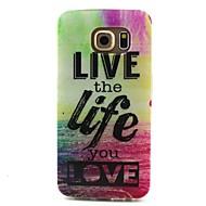 halpa Galaxy S4 kotelot / kuoret-Etui Käyttötarkoitus Samsung Galaxy Samsung Galaxy kotelo Kuvio Takakuori Sana / lause TPU varten S6 edge S6 S5 Mini S5 S4 Mini S4 S3