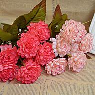 abordables Flores Artificiales-Flores Artificiales 1 Rama Ramos de Flores para Boda Crisantemo Flor de Mesa