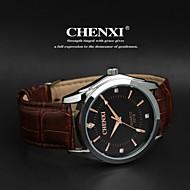 CHENXI® Muškarci Ručni satovi s mehanizmom za navijanje Kvarc Japanski kvarc Casual sat Koža Grupa CrnaWhite-Black Crno Smeđe/bijela