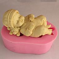 paistopinnan Sleeping Vauva for Cake for Cookie for Pie Silikoni Ympäristöystävällinen Korkealaatuinen 3D