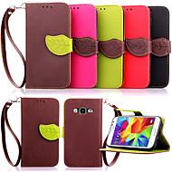 Mert Samsung Galaxy tok Kártyatartó / Pénztárca / Állvánnyal / Flip Case Teljes védelem Case Egyszínű Műbőr SamsungYoung 2 / Core Prime /
