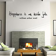 preiswerte -Worte & Zitate Cartoon Design Wand-Sticker Worte & Zitate Wandaufkleber Dekorative Wand Sticker, Vinyl Haus Dekoration Wandtattoo Wand