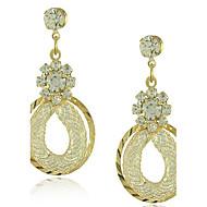 Pendientes colgantes Zirconia Cúbica Chapado en Oro La imitación de diamante Legierung Gota Pantalla de color Joyas 2 piezas