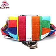 Кошка Собака Банданы и шляпы Одежда для собак Праздник На каждый день Цветовые блоки Радужный