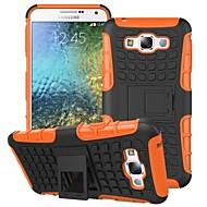 Для Кейс для  Samsung Galaxy Защита от удара / со стендом Кейс для Задняя крышка Кейс для Армированный PC Samsung E7 / E5