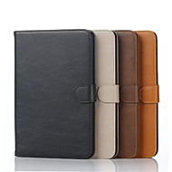 For Samsung Galaxy Case Card Holder / Wallet / with Stand / Flip Case Full Body Case Solid Color PU Leather Samsung Tab A 9.7 / Tab A 8.0
