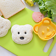 Teddy Bear Shape Sandwich Cutter DIY Plastic Sandwich Cutting Mold