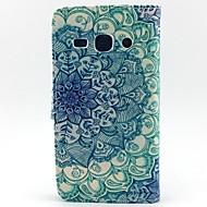 Недорогие Galaxy Core 2-Для Кейс для  Samsung Galaxy Кошелек / Бумажник для карт / со стендом / Флип Кейс для Чехол Кейс для Мандала Искусственная кожа Samsung