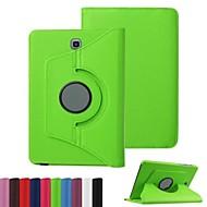 Недорогие Чехлы и кейсы для Galaxy Tab E 9.6-Кейс для Назначение SSamsung Galaxy Вкладка S2 9.7 Вкладка S2 8.0 Кейс для  Samsung Galaxy со стендом Флип Чехол Сплошной цвет Кожа PU для