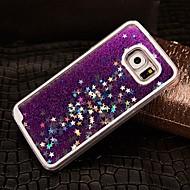cheap Cases / Covers for Samsung-Case For Samsung Galaxy Samsung Galaxy Case Flowing Liquid Back Cover Glitter Shine PC for S6