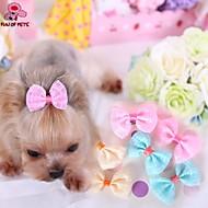 Недорогие Бижутерия и аксессуары для собак-Кошка Собака Аксессуары для создания прически Бант Одежда для собак Желтый Синий Розовый Терилен Костюм Для домашних животных Косплей