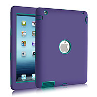 Case For Shockproof Dustproof Water Resistant Full Body Solid Color Silicone for iPad 4/3/2