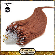 "20"" color #30 many colors availale 100S Micro Loop Remy Human Hair Extensions"