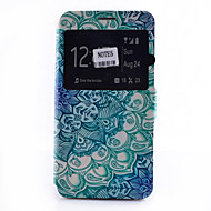 Mandala Pattern Pattern Window Clamshell PU Leather Case with Stand and Card Slot for Samsung Galaxy Note Series