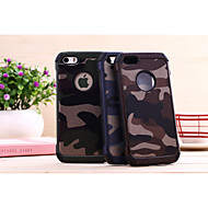 Etui Til iPhone 5 / Apple iPhone 5 etui Stødsikker Bagcover Ensfarvet / Camouflage Hårdt PC for iPhone SE / 5s / iPhone 5