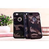 Custodia Per iPhone 5 / Apple Custodia iPhone 5 Resistente agli urti Per retro Tinta unita / Mimetico Resistente PC per iPhone SE / 5s / iPhone 5