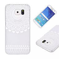 voordelige Galaxy S5 Mini Hoesjes / covers-hoesje Voor Samsung Galaxy Samsung Galaxy hoesje Transparant Achterkant Lace Printing PC voor S6 edge S6 S5 Mini S5