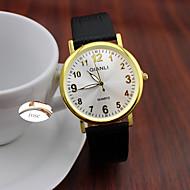 olcso Személyre szabott órák-Analóg - Bőr - Fekete - Női - Watch - Személyre szabott ajándékot