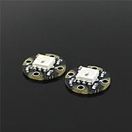 mini ws2812 RGB LED breakouts - musta (2 kpl)