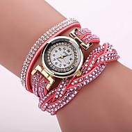 halpa Hippityyliset kellot-Xu™ Naisten Muotikello Rannerengaskello Quartz Arkikello PU Bändi Kukka Matta musta Boheemi Musta  Valkoinen Sininen  Punainen  Oranssi