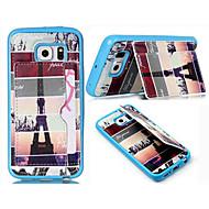 Для Кейс для  Samsung Galaxy Бумажник для карт / Кошелек / со стендом / Флип Кейс для Задняя крышка Кейс для Эйфелева башняИскусственная