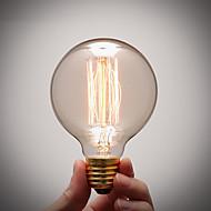رخيصةأون -COSMOSLIGHT 1PC 40W E27 E26/E27 G80 أبيض دافئ 2300 ك المتوهجة خمر اديسون ضوء لمبة أس 220V أس 110-130V أس 220-240V V