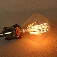 e27 40wダイヤモンドg95ストレートエジソン電球線レトロ光源と大型バルブペンダントバー