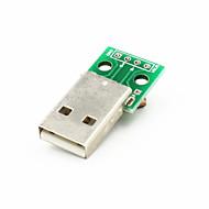 povoljno -USB muški umočiti 2.54mm 4-PIN modula - zelena