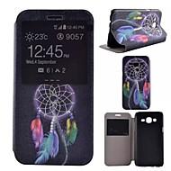 """Для Кейс для  Samsung Galaxy со стендом / с окошком Кейс для Чехол Кейс для Рисунок """"Ловец снов"""" Искусственная кожа Samsung J5"""