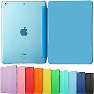 Ultra Slim Tri-Fold PU Leather with Crystal Hard Back Smart Stand Case Cover for iPad Air