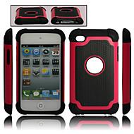plástico destacável duplo e capa de silicone para o iPod Touch 4 (cores sortidas)
